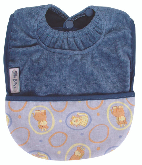 Teal Lion Fleece Pocket Bib
