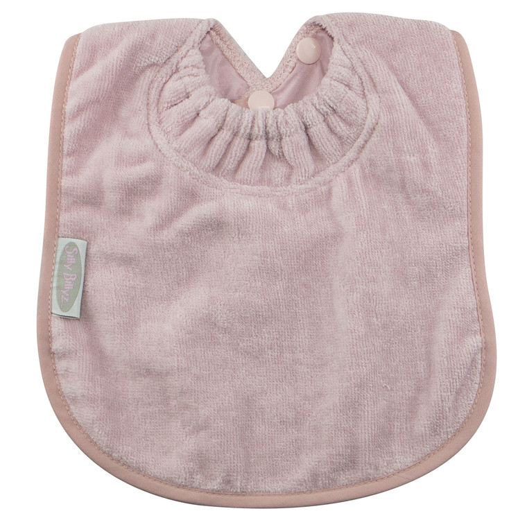 Antique Pink Towel Large Bib