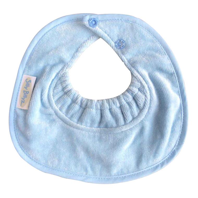 Dusty Blue Towel Infant Dribble Biblet