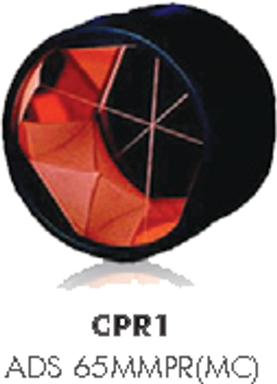 CPR1 65mm prism in canister, copper coated