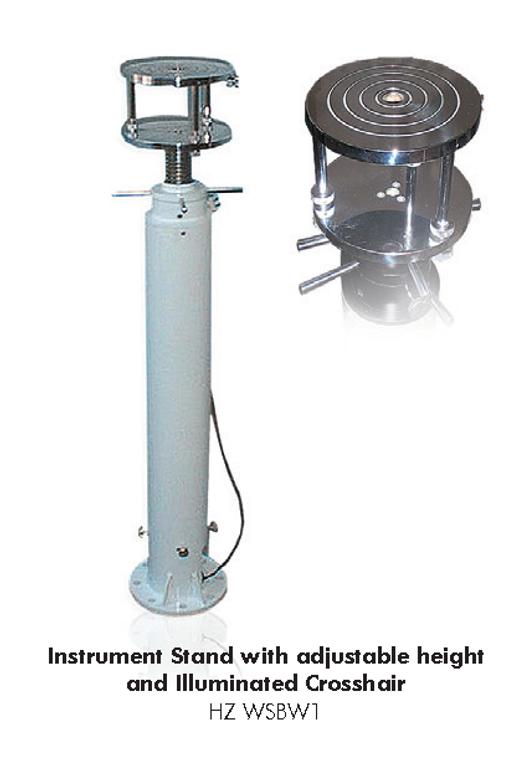 Instrument stand with adjustable height & illuminated crosshair