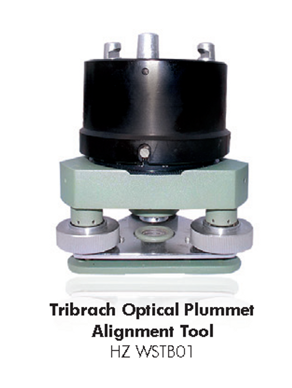 Tribrach optical plummet alignment tool