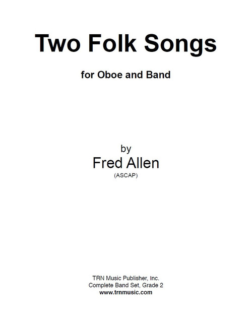 two folk songs for oboe and band image