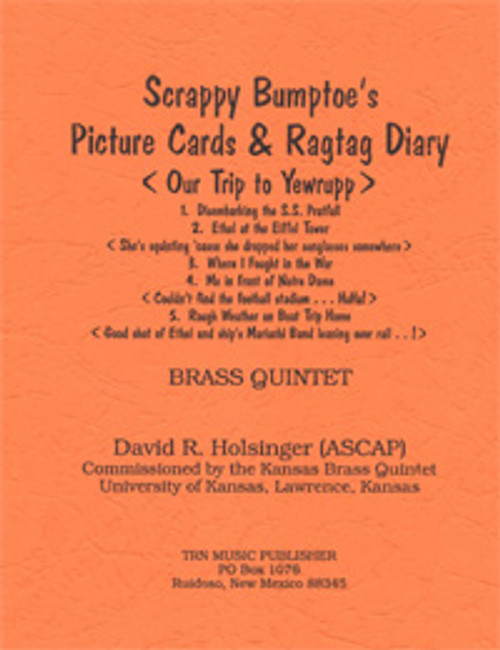 Scrappy Bumptoe's Picture Cards & Ragtag Diary (Brass Quintet)