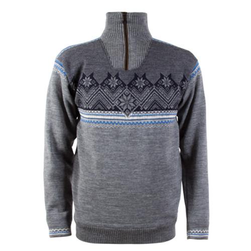 Men's Glittertind Masculine Sweater WP - Smoke/Lt Charcoal/Navy/Cobalt