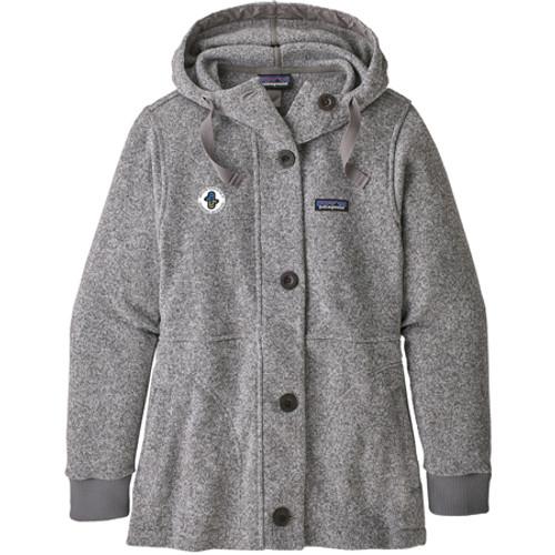 Women's Better Sweater Coat Birch White AASI Logo