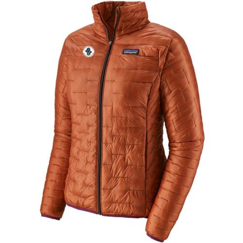 Women's Micro Puff Jacket Sunset Orange AASI Logo