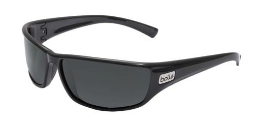 Python Sunglasses Shiny Black Frame, HD Polarized Lens