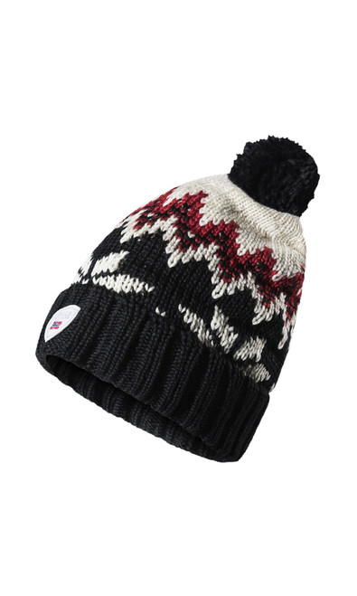 Dale of Norway Myking Hat Black/Raspberry/Off White