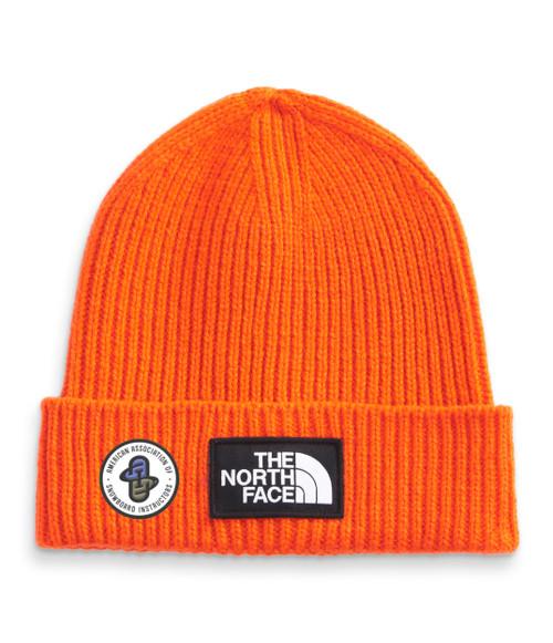 TNF Logo Box Cuffed Beanie TNF Red Orange  AASI