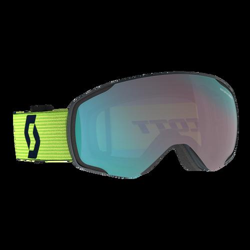 Vapor Goggle - Team Blue/Ultralime Yellow Frame - Enhancer Aqua Chrome Lens