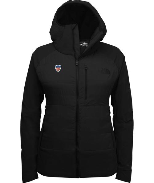 Women's Steep 5050 Down Hoodie Black with PSIA Logo