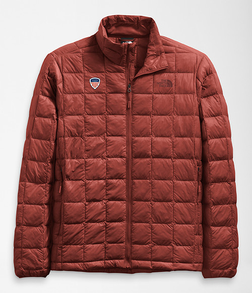 Men's ThermoBall Eco Jacket Brickhouse Red With PSIA Logo