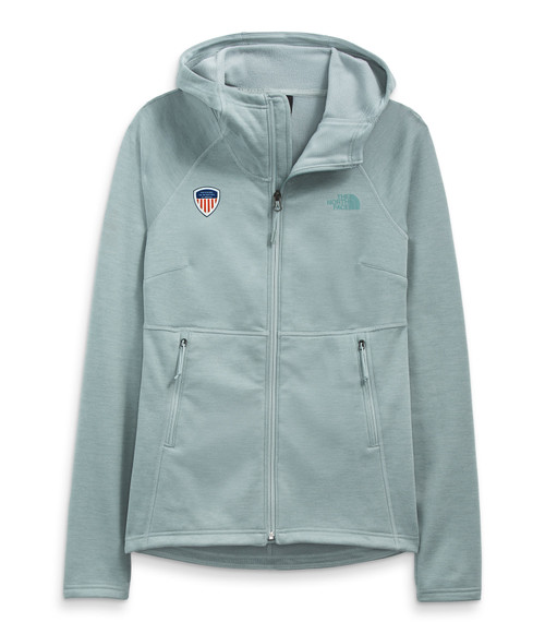 Women's Canyonlands Full Zip Hoodie Silver Blue Heather with PSIA Logo