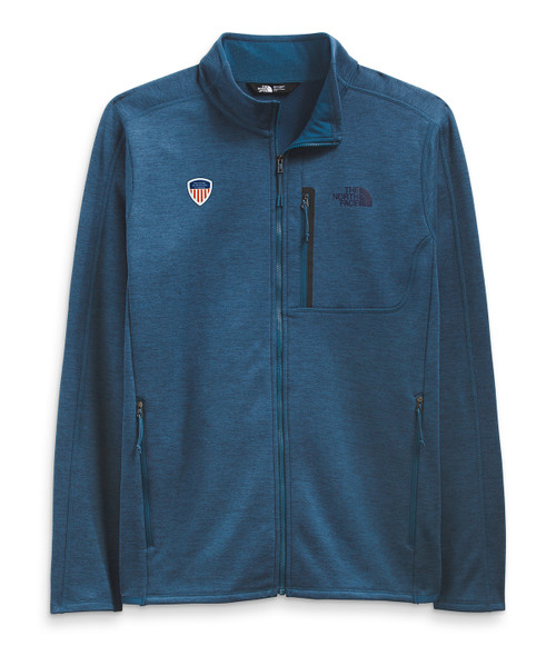Men's Canyonlands Full Zip Monterey Blue Heather PSIA Logo