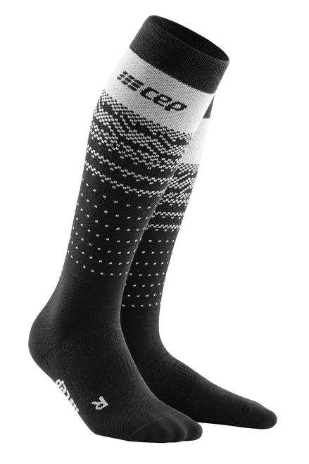 Women's Ski Thermo Merino Socks Black Grey