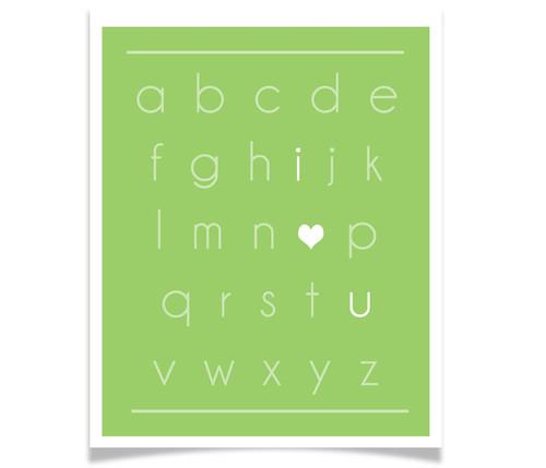 I Heart You Alphabet