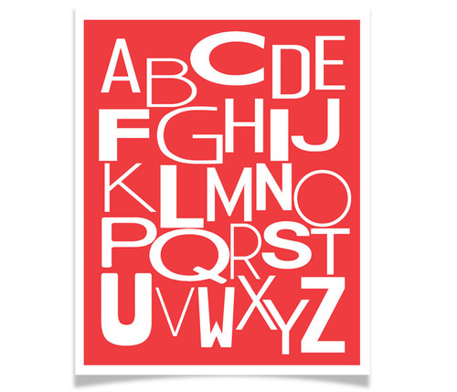 Modern ABC Art White