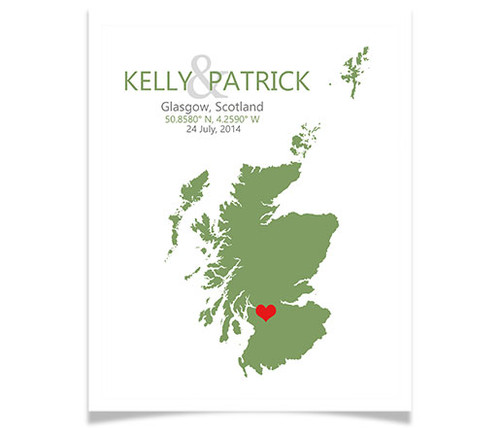 Scotland Wedding Coordinates