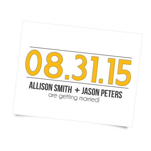 Large Date Save the Date - Custom Color Postcards