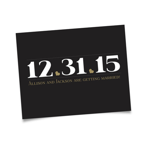 Date Save the Date - Custom Color Background Postcards