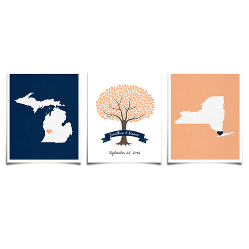 Three Set - Two States and Wedding Banner Tree