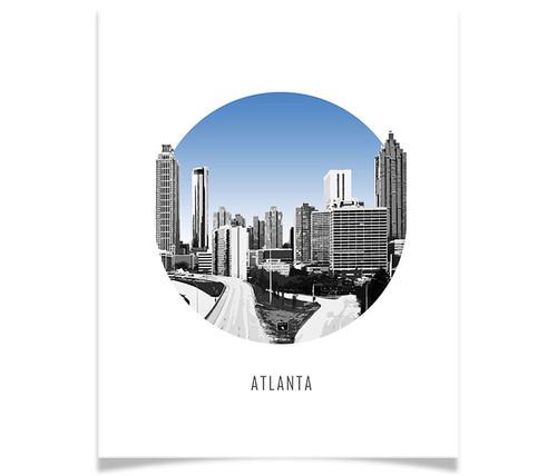 Atlanta Circle Skyline