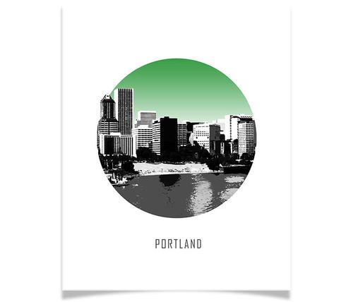 Portland Circle Skyline
