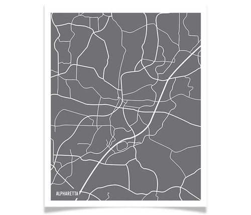 Alpharetta City Map