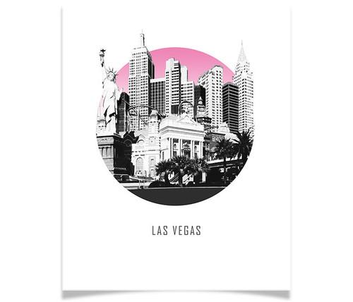 Las Vegas Nevada Circle Skyline