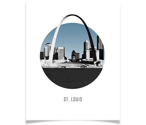 St. Louis Missouri Circle Skyline