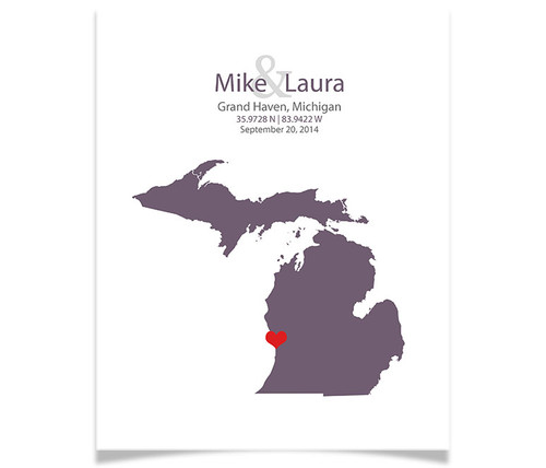 Michigan Wedding Coordinates