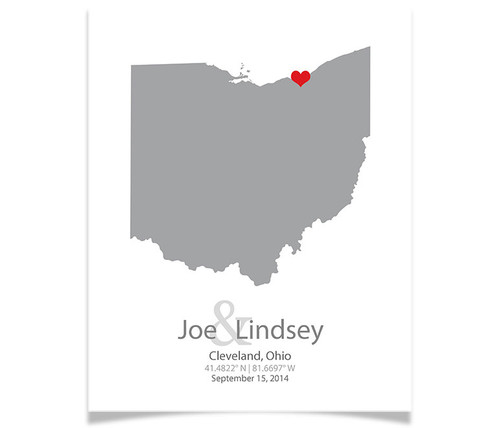 Ohio Wedding Coordinates