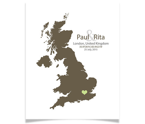 United Kingdom Wedding Coordinates