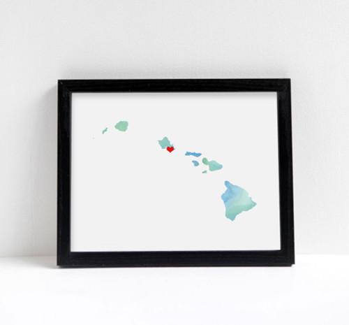 Hawaii - Watercolor Series