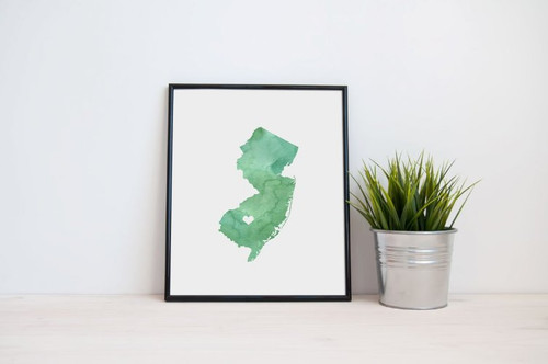 New Jersey - Watercolor Series