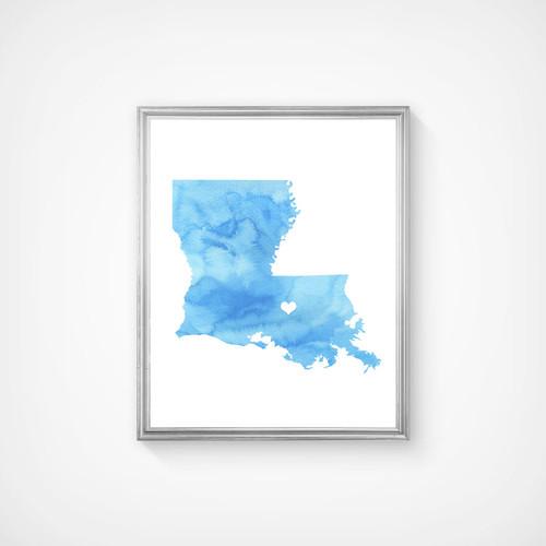 Louisiana - Watercolor Series