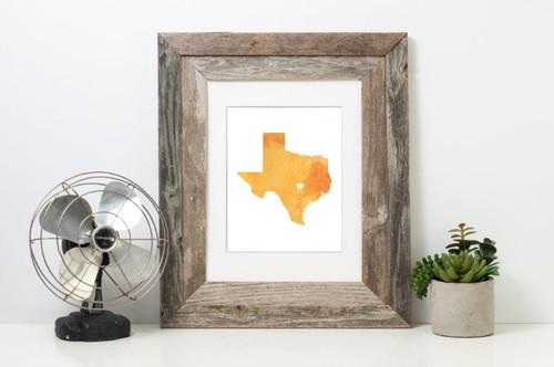 Texas - Watercolor Series