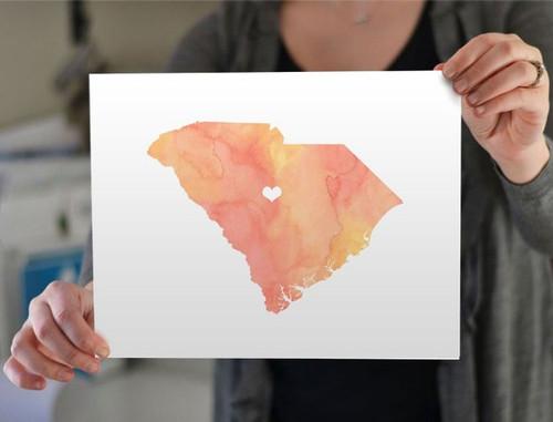South Carolina - Watercolor Series