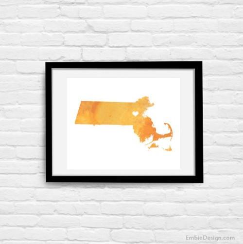 Massachusetts - Watercolor Series