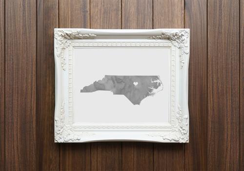 North Carolina - Watercolor Series