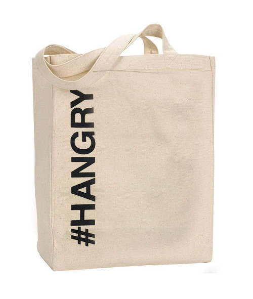 #hangry - oversized canvas tote bag