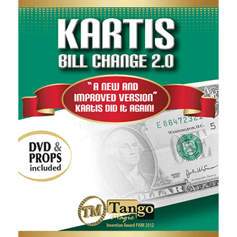 Kartis Bill Change 2.0 (w/DVD) by Kartis and Tango Magic - Trick