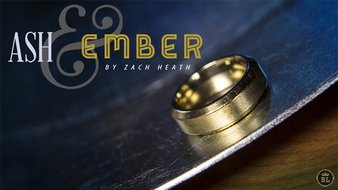 Ash and Ember Gold Beveled Size 10 (2 Rings) by Zach Heath  - Trick