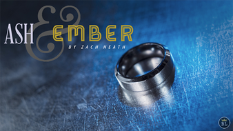 Ash and Ember Silver Beveled Size 10 (2 Rings) by Zach Heath  - Trick