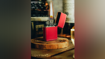 Limited Edition Light It Up Scarlet Shine (Red) Edition (Gimmicks, Remote and Online Instructions) by SansMinds AND SOMETHING FREE