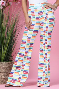 Multi Color High Waisted Pants