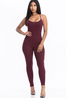Solid Bodycon Jumpsuit