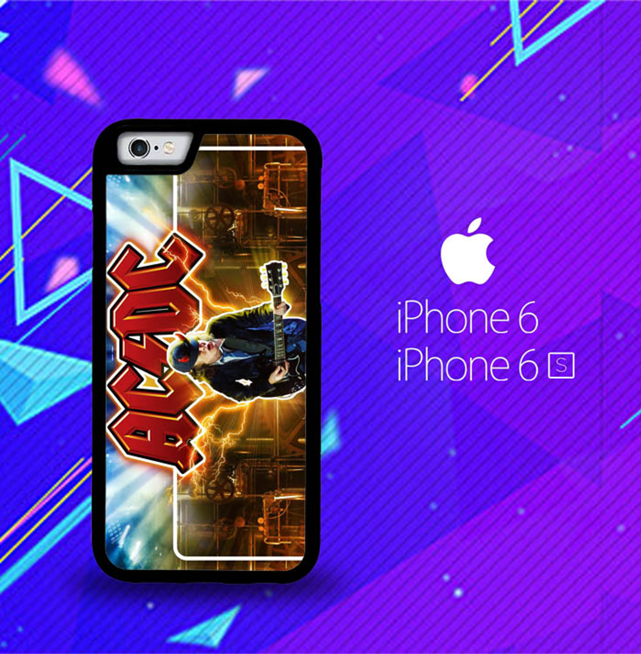 Acdc Logo Wallpaper Y1485 Iphone 6 Iphone 6s Case Flazzy Store