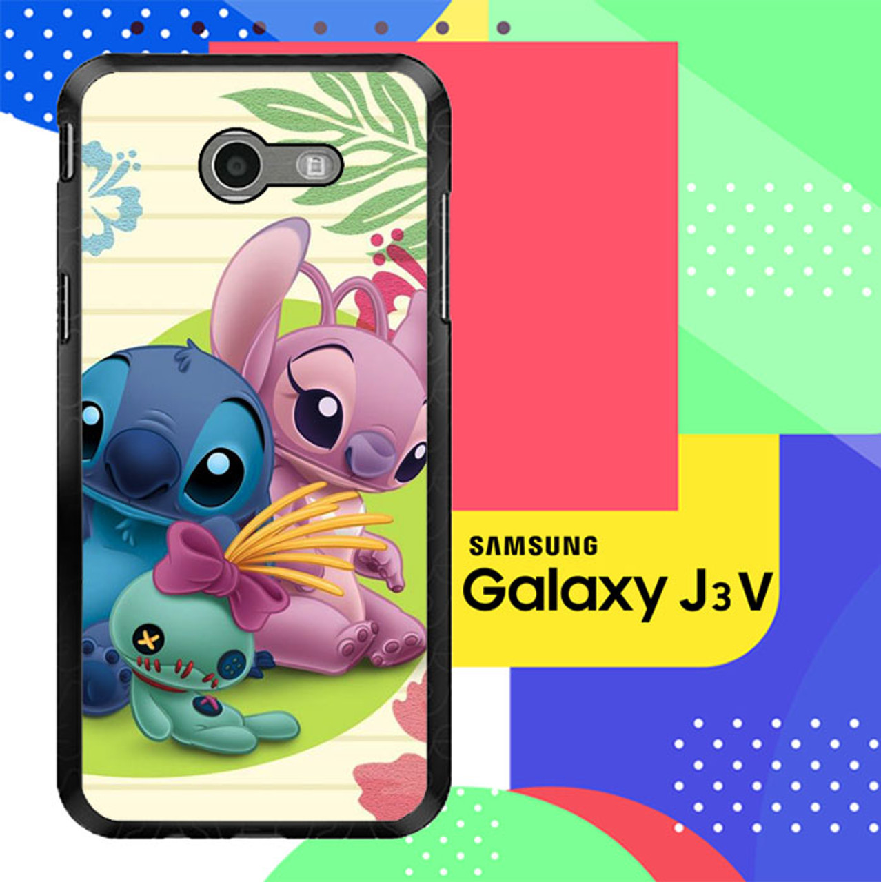 Stitch And Angel Wallpaper Y1725 Samsung Galaxy J3 Emerge J3 Eclipse Amp Prime 2 Express Prime 2 2017 Sm J327 Case Flazzy Store